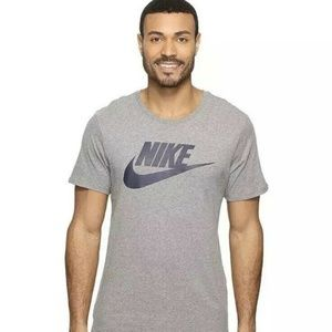 Nike Futura Tee Shirt Mens Gray and Navy NWT